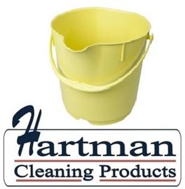 401141015-4 - Hoogwaardige FBK kleurcode HACCP hygiënische emmers metaal detecteerbaar 9 liter geel 70102
