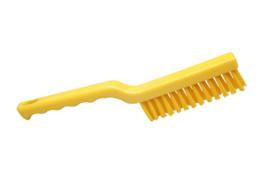 40030148-4 - FBK Hoogwaardige kleurcode HACCP hygiënische polyester machine / visborstel 275 x 20 mm, geel 50153