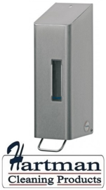 S1415817 - SanTRAL Classic RVS Zeepdispenser. 1200 ml. navulbaar met pomp. Type NSU 11 E/S. Afmeting 333x97x117 mm
