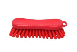 21030125-3 - FBK Polyester werkborstel kleurcode HACCP 210 mm x 70 mm harde vezel rood 10563