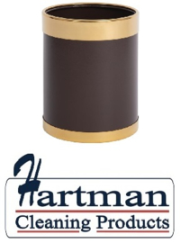 Y804 -Bolero prullenbak bruin met gouden rand 10,2L