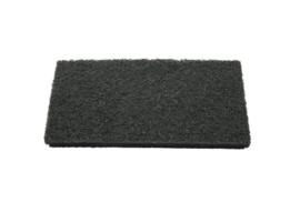 80970106 - FBK Schuurpad 250 x 120 x 25mm , hard , zwart 15125
