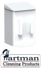 8245 - Hygiëneafvalbak 6 liter wit + zakjeshouder, MediQo-Line MQWB6HBHP