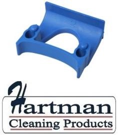 710102108-2 - FBK Klem voor wand railophangsysteem kleurcode HACCP ø 28 - 38 mm blauw 15151
