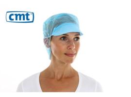 816098 - CMT PPnw pet / klep en haaropvang, blauw 'snood cap