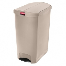 GL042 - Rubbermaid pedaalemmer beige 90ltr