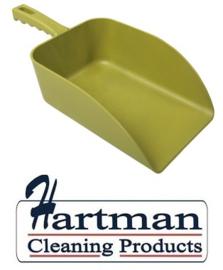 913141018-4 - FBK Hoogwaardige handschep polypropyleen 1000 gram 160 x 230 x 260 mm metaal detecteerbaar geel 75107
