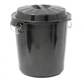 600051 -  Afvalvat inclusief deksel 70 liter