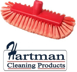 205161008-3 - FBK Inwasborstel waterdoorlatend hoogwaardige kleurcode HACCP hygiënische polyester 290 x 130 mm gespleten vezel zacht rood 29105
