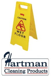 "L416 - Waarschuwingsbord ""Wet floor"" Hoogte 64cm."