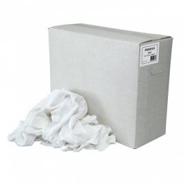 P25310   - Dunne witte tricot poetslappen doos 10 KG