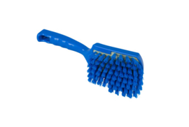 119151012-2 -Polyester FBK handborstel vezels in hars gegoten kleurcode HACCP 275 mm x 70 mm hard blauw 90548