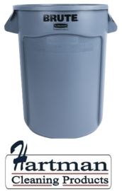 L640 - Rubbermaid ronde afvalcontainer  grijs 121 liter container
