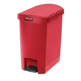 GL023 - Rubbermaid pedaalemmer rood 30ltr