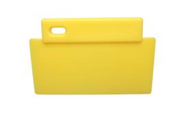 38180106-4 - FBK Spatel hoogwaardige kleurcode 200 x 125 mm polypropyleen geel 81900