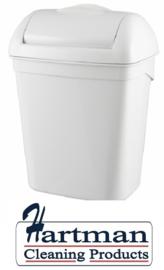 5645 - Hygiënebak 8 liter kunststof wit, PQH8 PlastiQline