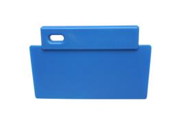 38180106-2 - FBK Spatel - schraper hoogwaardige kleurcode 200 x 125 mm polypropyleen blauw 81900