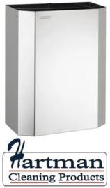 11041 - Afvalbak open 25 liter hoogglans RVS hoogglans PPA2279C – Dutch Bins