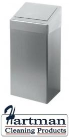 438495 - Afvalbak 50 ltr, RVS mat geslepen EURO Products
