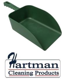 913141018-5 - FBK Hoogwaardige handschep polypropyleen 1000 gram 160 x 230 x 260 mm metaal detecteerbaar groen 75107