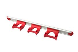 711102105-3 - Wand railophangsysteem kleurcode HACCP aluminium 500 mm 3 x klem rood 15155