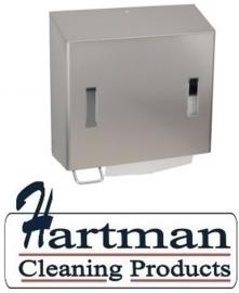 21410974 AFP-C - RVS AFP-C combinatiedispenser zeep- (links) & handdoekdispenser, CPU 2 L E SanTral