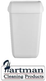 441404 - Afvalbak kunststof mat wit 43 liter Quartz-Line