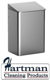 8210 - Afvalbak 6 liter gesloten RVS, MediQo-line MQWB6E