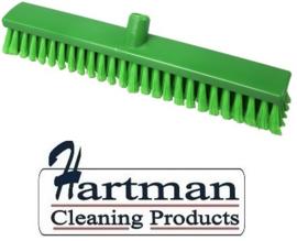 30210137-5 - FBK Hoogwaardige kleurcode HACCP hygiënische Polypropylene kunststof zachte gespleten bezem 500 x 60 mm groen 26306