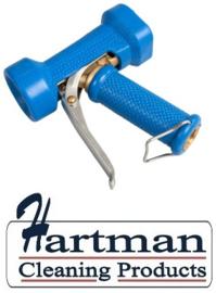 600161024-2 - FBK Waterpistool zwaar model messing 24 bar - tot 95 graden belastbaar blauw 0411