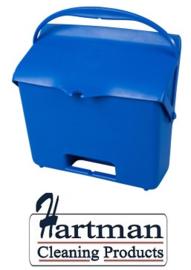 410101104-2 - FBK Hotelstofblik met handgreep hoogwaardige kleurcode hygiënische polypropyleen blauw 80205