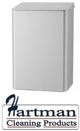 8220 - Afvalbakken 15 liter aluminium MediQo-line MEDIQO-LINE