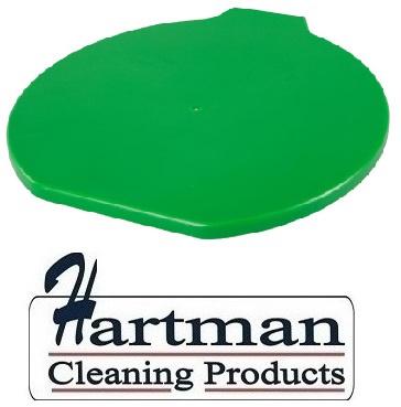 314106102-5 - FBK Deksel voor emmer 15 liter hoogwaardige kleurcode HACCP hygiënische polypropyleen groen 80111