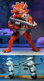 NECA TMNT AF 3-Pack Triceraton Infantryman & Roadkill Rodney