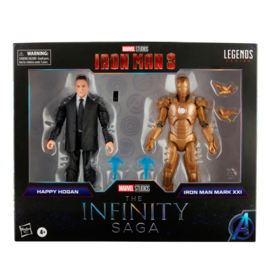 Marvel Legends The Infinity Saga 2-Pack Happy Hogan & Iron Man - Pre order