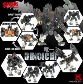 Fansproject Saurus Ryu-Oh Dinoichi