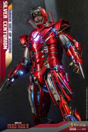 Hot Toys Iron Man 3 MM AF 1/6 Silver Centurion (Armor Suit Up Version) - Pre order