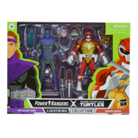 Hasbro Power Rangers LC X TMNT 2 Pack Morphed Foot Soldier Tommy and Morphed Raphael - Pre order