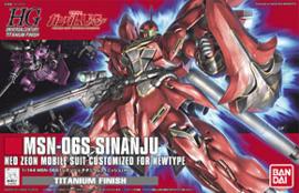 1/144 HGUC MSN-06S Sinanju Titanium Finish