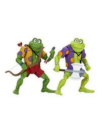 NECA Teenage Mutant Ninja Turtles AF 2-Pack Genghis & Rasputin Frog - Pre order