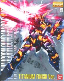 1/100 MG RX-0 Unicorn Gundam 02 Banshee Titanium Finish