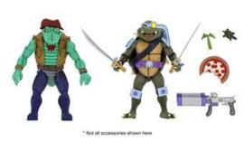 Teenage Mutant Ninja Turtles Action Figure 2-Pack Leather Head & Slash - Pre order