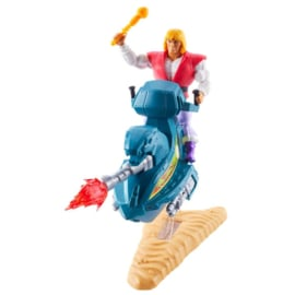 Masters of the Universe Origins Prince Adam with Sky Sled (R)