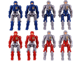 Takara Diaclone Reboot - DA-04-3 Dia-Naughts Set of 8 (Ver.3) Exclusive