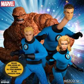 Mezco Marvel Action Figure 1/12 Fantastic 4 Deluxe Steel Set - Pre order