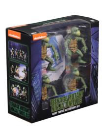 NECA Teenage Mutant Ninja Turtles Action Figure 4-Pack 1/4 Baby Turtles - Pre order
