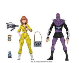 Teenage Mutant Ninja Turtles AF 2-Pack April O'Neil & Foot Soldier - Pre order