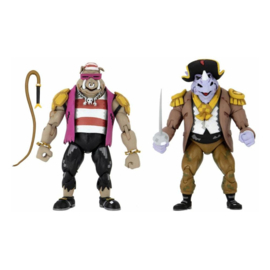 NECA Turtles in Time AF 2-Pack Pirate Rocksteady & Bebop - Pre order