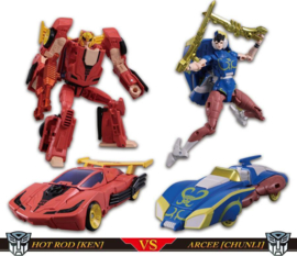 Takara Tomy Mall Exclusive Street Fighters II X Transformers Ken VS Chun-Li