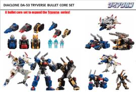 Takara Diaclone DA-53 Tryverse Bullet Core Set